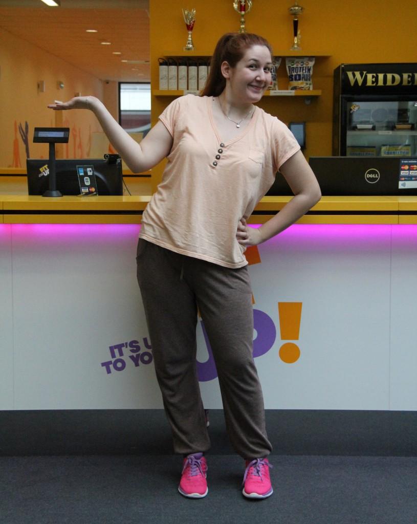 Veronika pri tréningu v bratislavskom fitness centre.