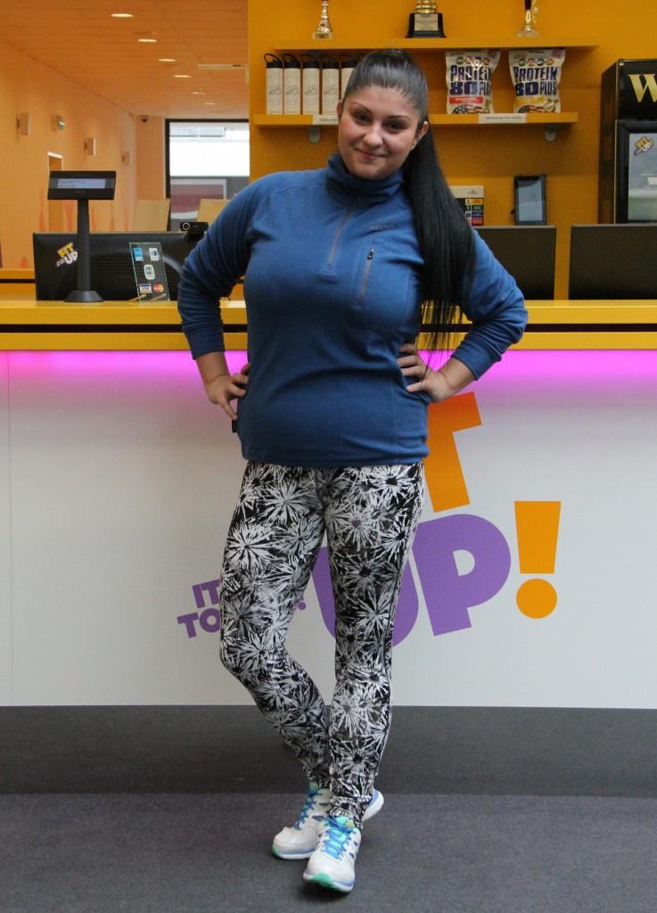 Klaudia pri svojom tréningu vo fitness centre FIT UP!